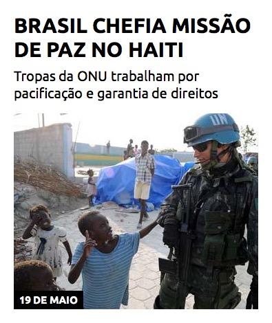 Brasil chefia missão de paz no Haiti