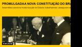 Promulgada a nova Constituição do Brasil