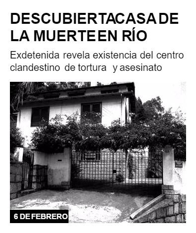 Descubierta Casa de la Muerte en Río