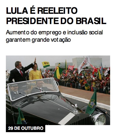 Lula é reeleito presidente do Brasil