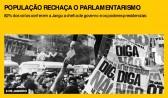 População rechaça o parlamentarismo