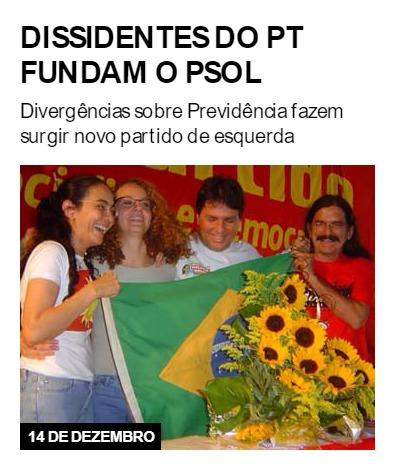 Dissidentes do PT fundam o PSOL