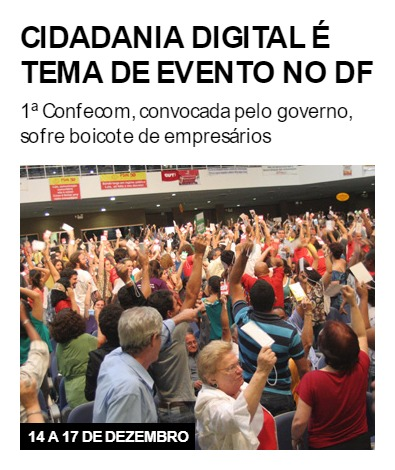 Cidadania digital é tema de evento no DF