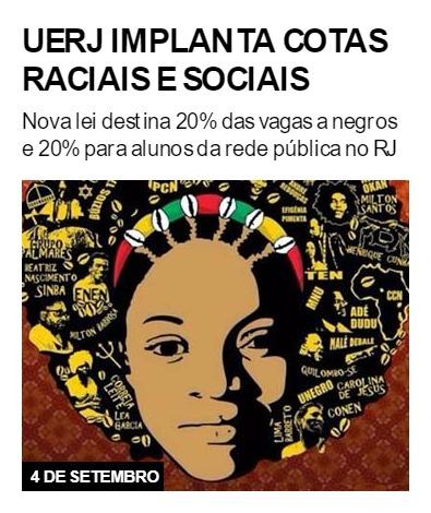 Uerj implanta cotas raciais e sociais