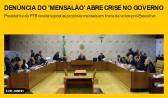 Denúncia do 'mensalão' abre crise no governo