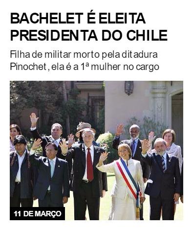 Bachelet é eleita presidenta do Chile