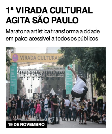 1ª Virada Cultural agita São Paulo