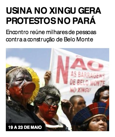 Usina no Xingu gera protestos no Pará