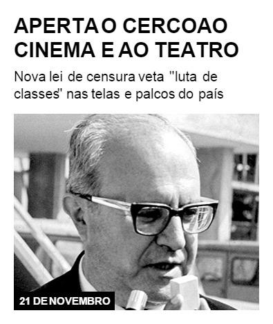 Aperta-se o cerco ao cinema e teatro