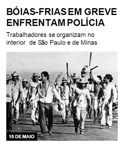 Boias-frias em greve enfrentam polícia