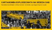 Carta-bomba explode e mata na sede da OAB