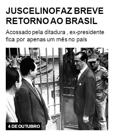 Juscelino faz breve retorno ao Brasil