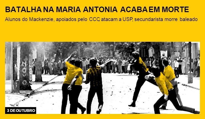 Batalha na Maria Antonia acaba em morte