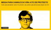 Missa para Vannucchi vira ato de protesto