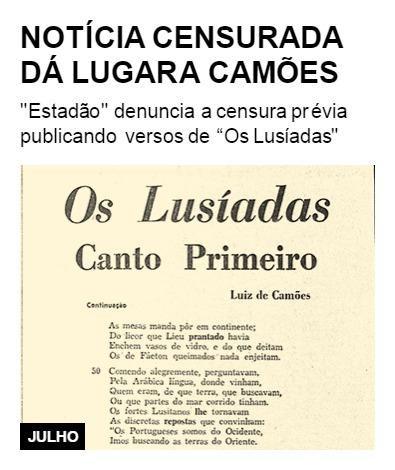 Notícia censurada dá lugar a Camões