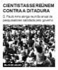Cientistas se reúnem contra a ditadura