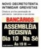 Novo decreto tenta intimidar grevistas