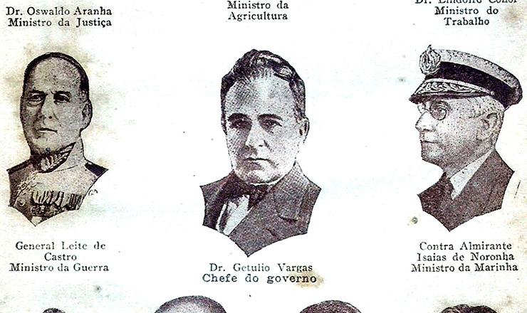 Getúlio Vargas e seu ministério , em imagem de 1931