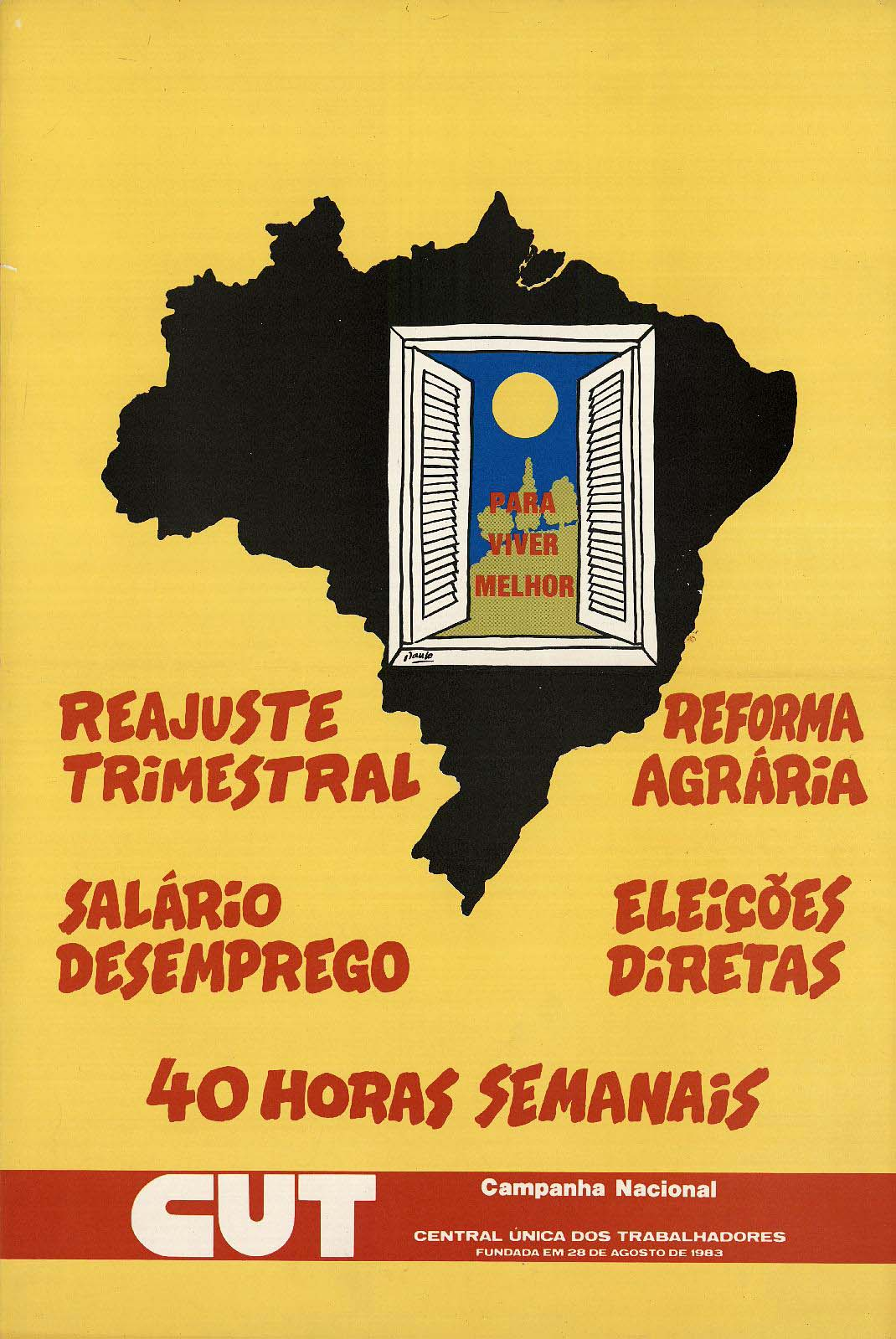 Cartaz da Campanha Nacional de Luta