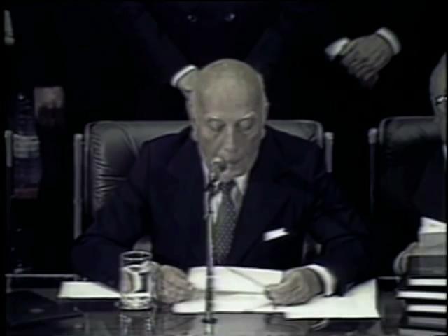 Trecho do discurso de Ulysses Guimarães no ato de promulgação da Constituição