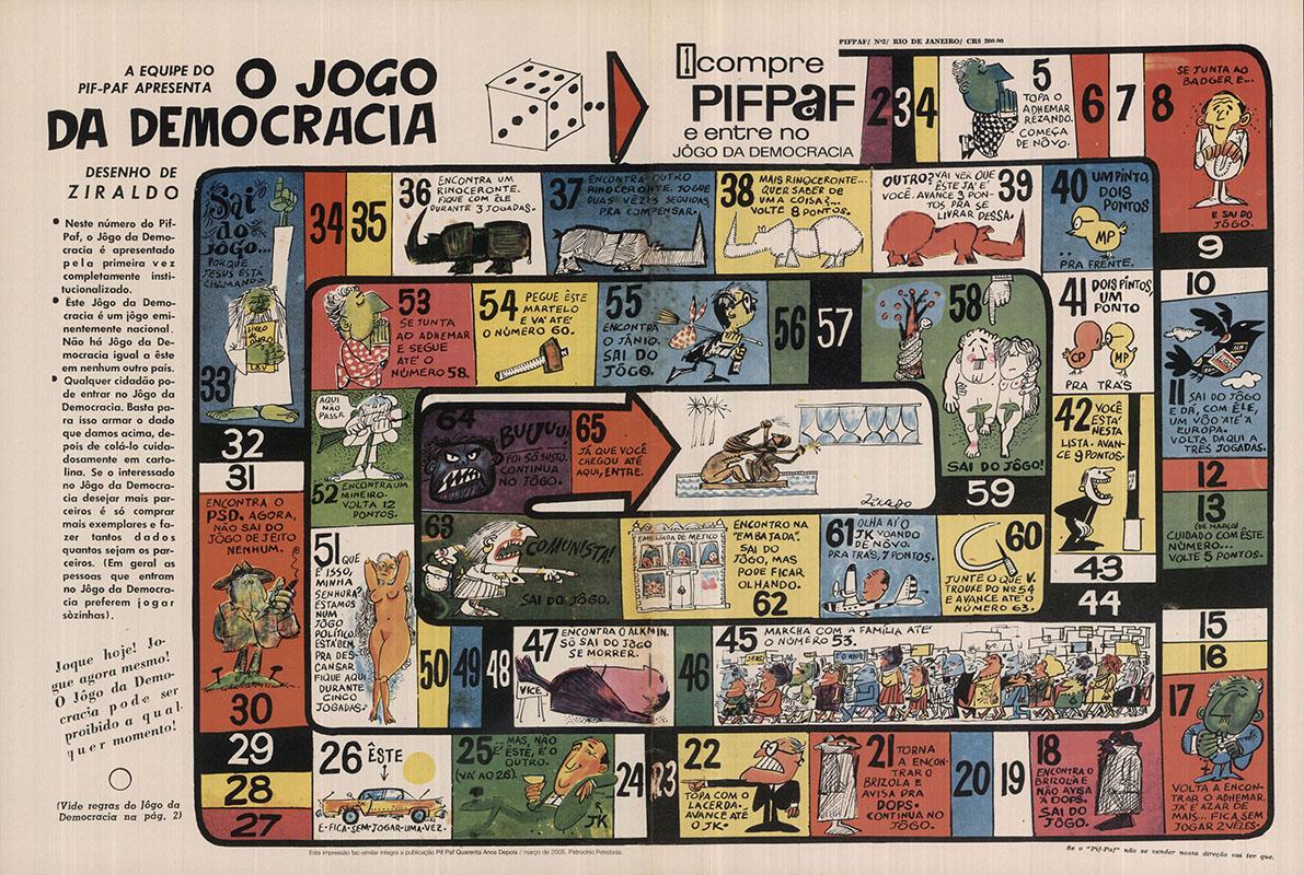 """O jogo da democracia,""""Pif-Paf"""" nº 2, junho de 1964"""
