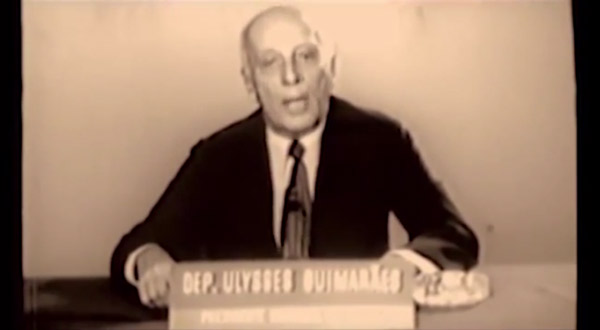 Depoimento do publicitário Paulo de Tarsosobre a campanha vitoriosa do MDB em 1974 e propaganda com Ulysses Guimarães