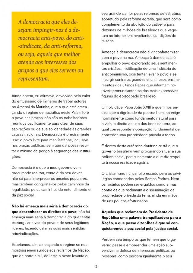 Íntegra do discurso  do presidente João Goulart na Central do Brasil