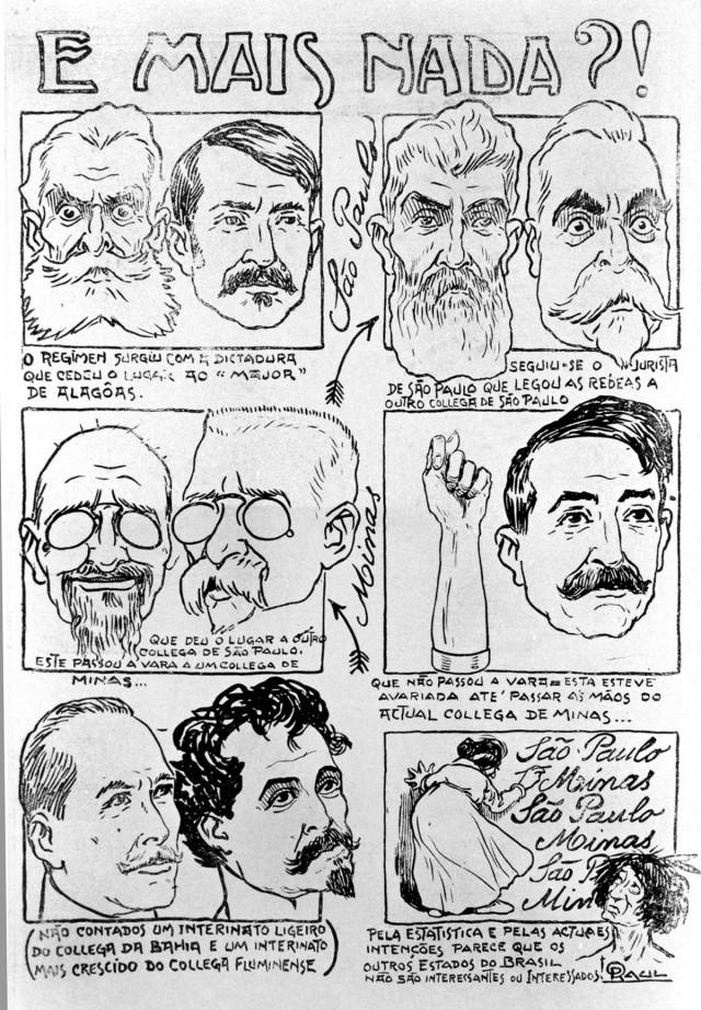 """Charge de Raul publicada na """"Revista da Semana"""" de3 de março de 1917"""
