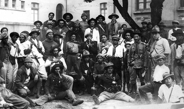 <strong> Combatentes gaúchos</strong> acantonados em São Paulo