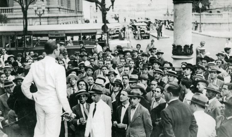 <strong> Com&iacute;cio</strong> da Alian&ccedil;a Nacional Libertadora, Cinel&acirc;ndia, Rio de Janeiro, 1935