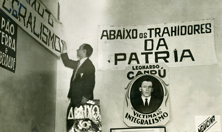 <strong> Sede da Alian&ccedil;a Nacional Libertadora no Rio &eacute; interditada&nbsp;</strong> pela pol&iacute;cia, em 12 de julho de 1935  &nbsp;  &nbsp;