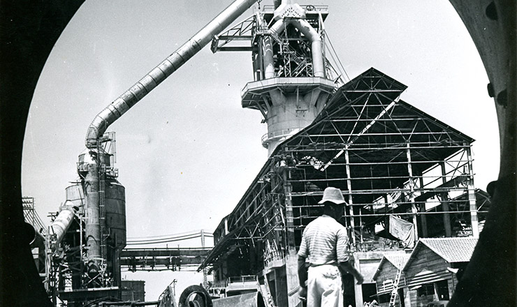 <strong> Constru&ccedil;&atilde;o da usina de Volta Redonda </strong> da CSN, em 1941  &nbsp;  &nbsp;