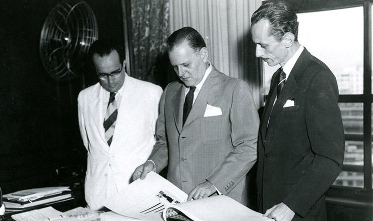 <strong> Diretores </strong> do Dasp, em 1939