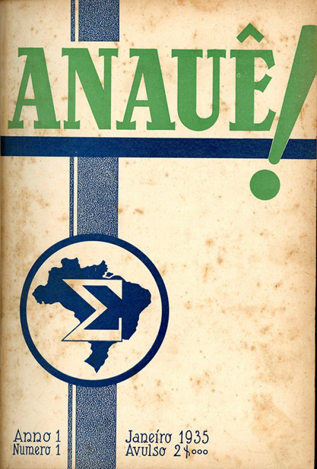 Primeiro número  da revista Anauê, da Ação Integralista Brasileira