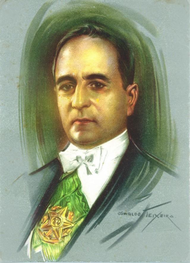 Retrato oficial do presidente GetúlioVargas (tela de Oswaldo Teixeira), emcartão-postal distribuído pelo DIP