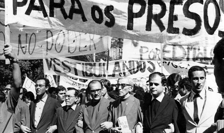 <strong> Religiosos aderem</strong> &agrave; manifesta&ccedil;&atilde;o no centro do Rio de Janeiro  &nbsp;