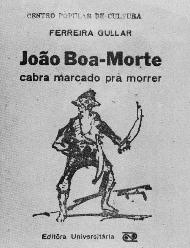 """Capa do texto de Ferreira Gullar """"João Boa-Morte: Cabra Marcado para Morrer"""", do CPC da UNE"""