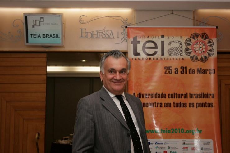 <strong> Ministro Juca Ferreira, da Cultura,&nbsp;</strong> no Teia 2010, em Fortaleza