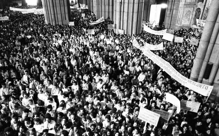 <strong> Catedral da S&eacute;</strong> lotada por populares que participaram do ato p&uacute;blico  &nbsp;