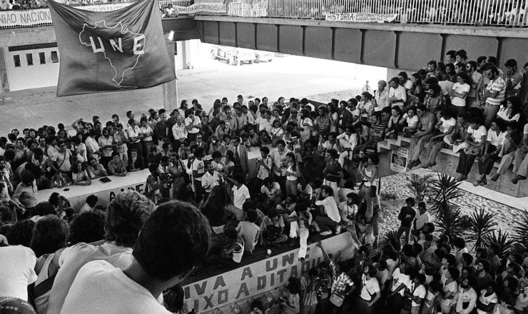 <strong> Reuni&atilde;o de estudantes </strong> durante o 31&deg; Congresso da UNE, em Salvador