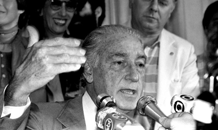 <strong> Franco Montoro, do PMDB,</strong> governador eleito de São Paulo