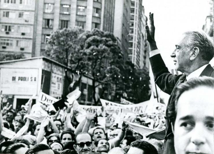 <strong> Negr&atilde;o de Lima,</strong> em campanha eleitoral pelo governo da Guanabara