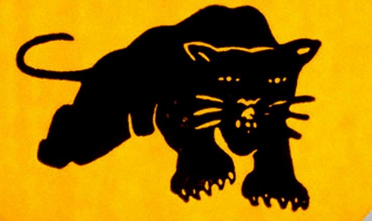 <strong> Button dos Panteras Negras,</strong> ativistas do movimento negro norte-americano que também combatia a guerra do Vietnã