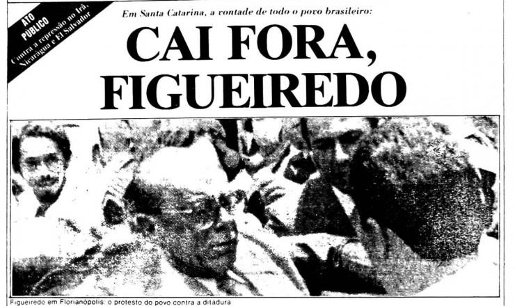 <strong> A &quot;Novembrada&quot;, </strong> como ficaria conhecido o epis&oacute;dio de Santa Catarina, &eacute; tema de editorial do jornal alternativo &quot;O Trabalho&quot;