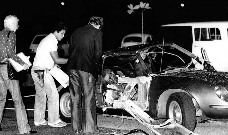 <strong> O sargento Guilherme Pereira do Ros&aacute;rio </strong> morto na explos&atilde;o acidental da bomba dentro de um carro Puma no estacionamento do Riocentro&nbsp;