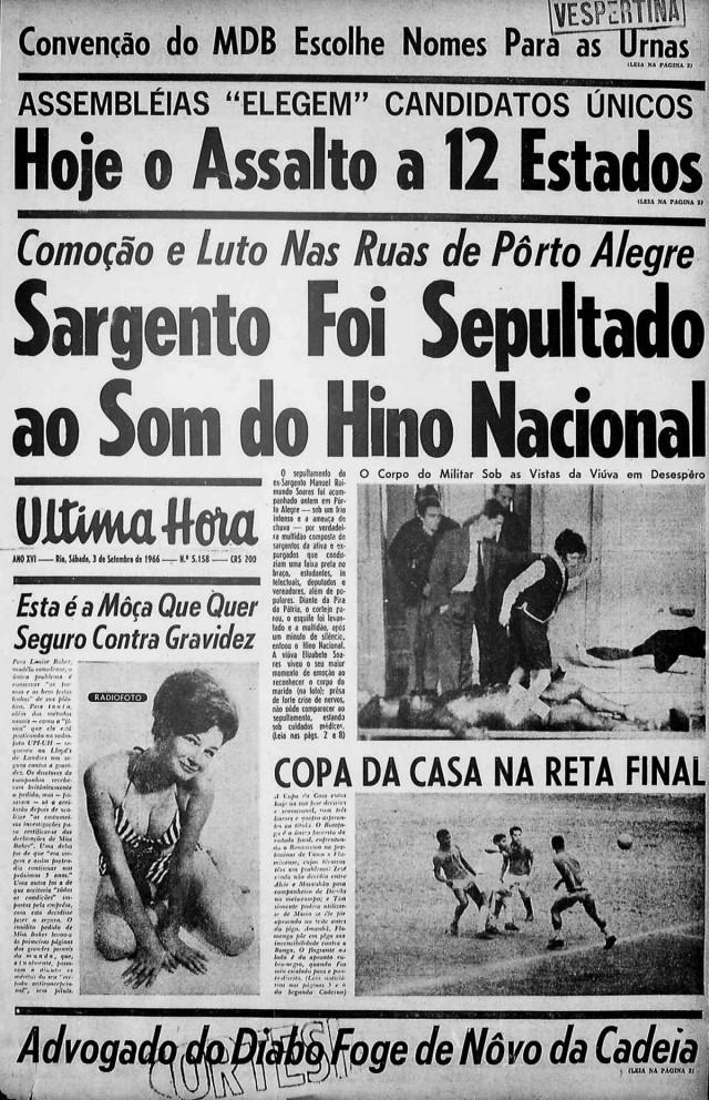 """Jornal """"Última Hora"""", de Samuel Wainer, denuncia o crime político"""