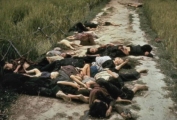 <strong> Mortos no massacre de My Lai,</strong> no qual cerca de 500 aldeões vietnamitas foram assassinados por soldados dos EUA