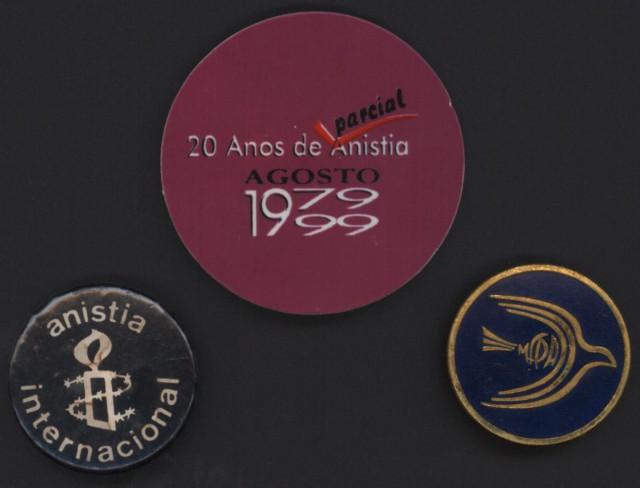 Buttons da Anistia Internacional