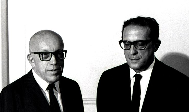<strong> Magalh&atilde;es Pinto e Carlos Lacerda</strong> (dir.), l&iacute;deres civis do golpe de 1964, derrotados nas elei&ccedil;&otilde;es de 1965&nbsp;