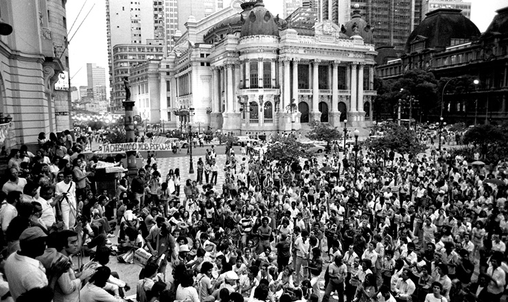 <strong> Manifesta&ccedil;&atilde;o do MDB carioca</strong> contra a reforma partid&aacute;ria, em 19 de novembro de 1979&nbsp;